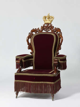 furniture: Antique Throne