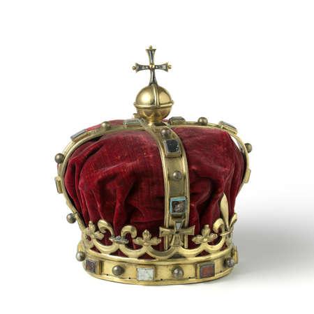 rey medieval: Corona del oro con joyas