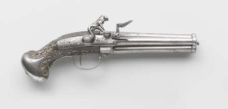 flint gun: arma de fuego antigua Foto de archivo