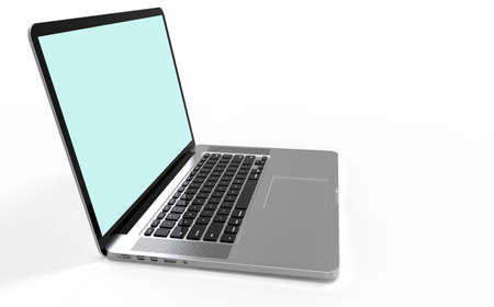 Laptop Computer on isolated background