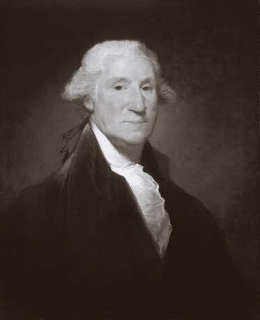 george washington: Portrait of George Washington Stock Photo