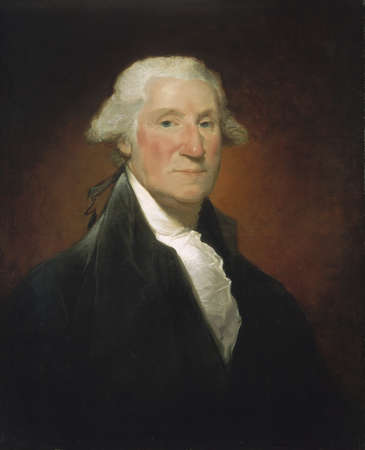 Portrait of George Washington Stock Photo