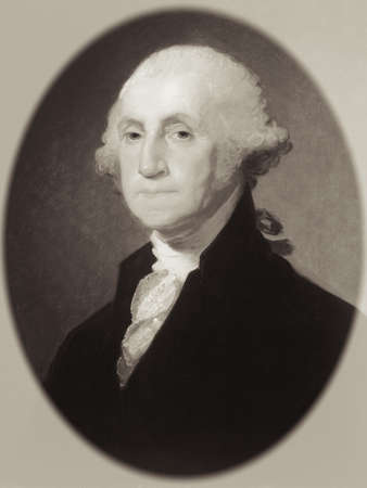 the statesman: Portrait of George Washington Stock Photo