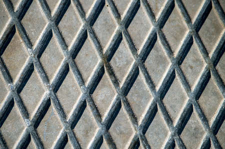 rhomb: rhomb pattern in the street Stock Photo