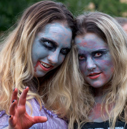spooky eyes: women with spooky eyes from Zombie walk in Stockholm august 2016
