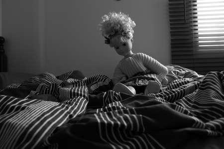 soledad: la soledad de una mu�eca Foto de archivo