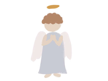 Simple and fashionable angel motif illustration.