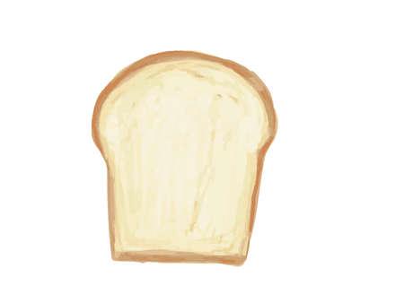 It is a cute bread illustration. Иллюстрация