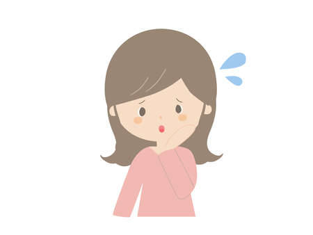 Cute illustration of a young woman in trouble. Ilustrace