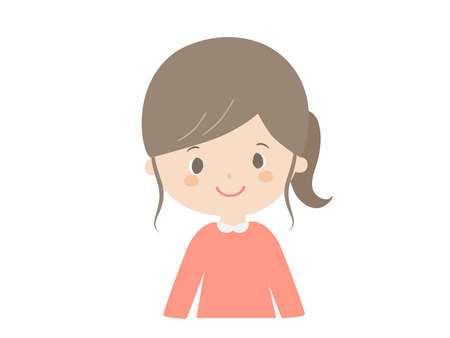 Cute illustration of a smiling girl.
