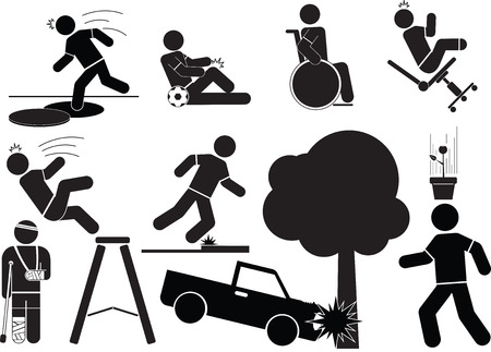 Accident icon set.