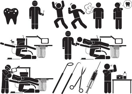 Dental Icon Illustration. Simple Pictogram.