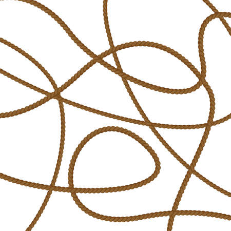Realistic pattern with cord on white background. Cord, great design for any purposes. Vetores