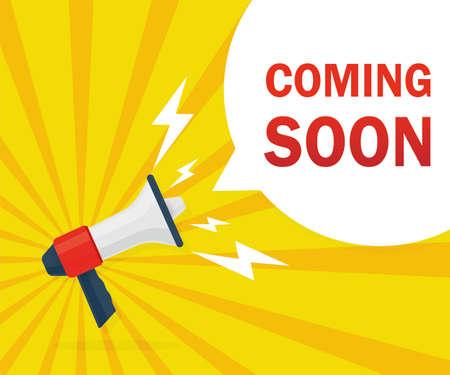 Announcement business communication. Modern flat poster. Promotion poster concept. Sale website banner