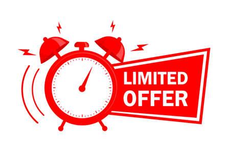 Red limited offer. Special offer badge. Big sale special offer. Vektoros illusztráció