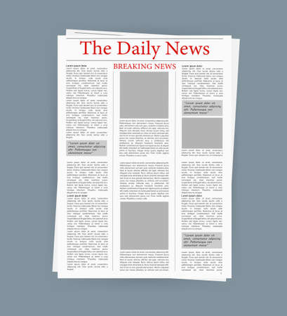 Newspaper, great design for any purposes. editorial print layout. Newspaper template. Daily press empty paper journal mockup