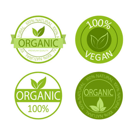 Vegan emblem. Natural product. Natural leaf icon. Vegan emblem. Healthy fresh nutrition. Healthy lifestyle