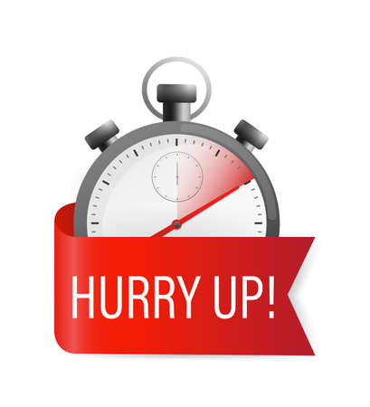 Hurry up timer, great design for any purposes. Time going over concepts. Vector illustration.