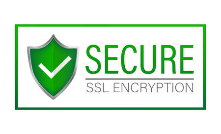 Ssl secure on white background. Protection icon vector. Information icon vector. Data protection. Vecteurs