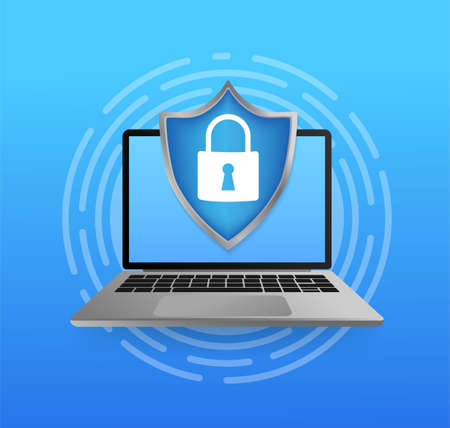 Network security antivirus vpn privacy. User icon vector. Data protection. Data secure. Icon for concept design. Isometric vector. Personal protection.