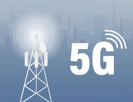 5g network technology. Abstract icon. 3d vector background. Home network. Business concept. Abstract background. Internet technology.