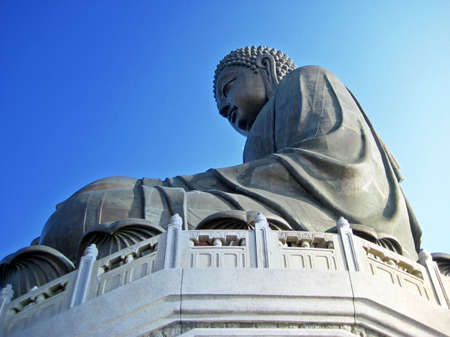 Big Buddha at Lantau Island, Hong Kong photo