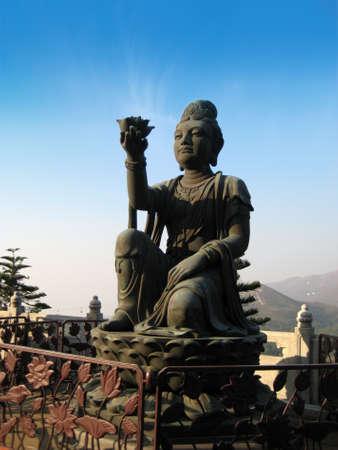 Female temple statue at Lantau Island, Hong Kong Stock Photo - 8510713