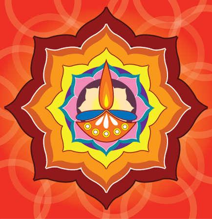 joyous: Ilustraci�n de una vela para el saludo de Diwali
