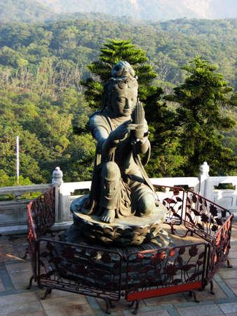 Female temple statue at Lantau Island, Hong Kong Stock Photo - 8581651