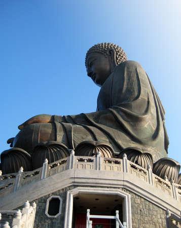 Big Buddha at Lantau Island, Hong Kong photo