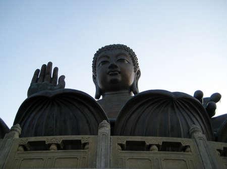 lantau: Big Buddha at Lantau Island, Hong Kong Stock Photo