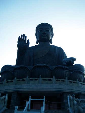 Big Buddha at Lantau Island, Hong Kong Stock Photo