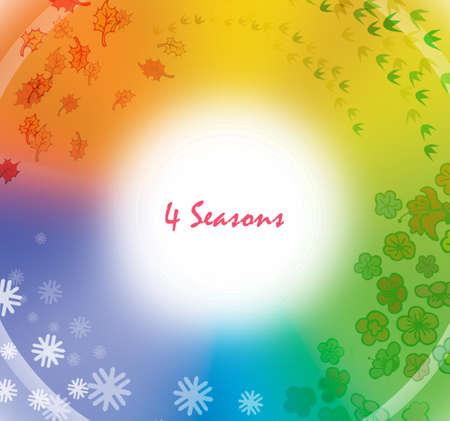quatre saisons: Quatre saisons Banque d'images