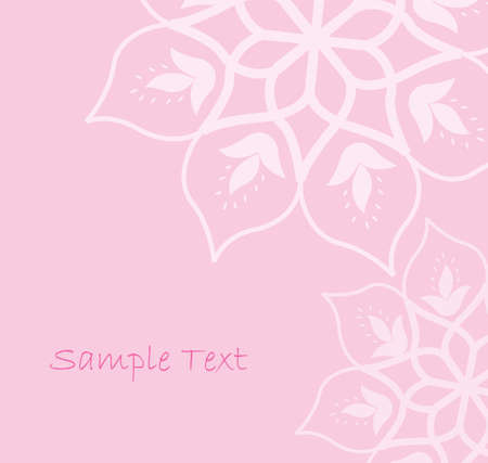ornamental background: abstract floral pink background Illustration