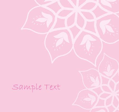 feminine background: Fondo de color rosado floral abstracto