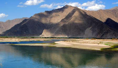 tibet mountain landscape Stock Photo