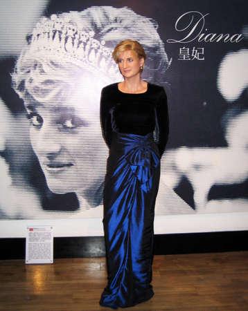 Diana waxwork on exposition at The Peak, Hongkong Editorial