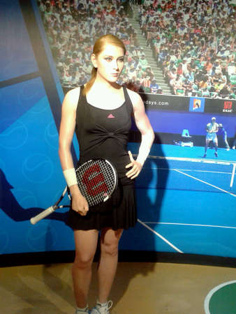 Famous tennis player at wax museum