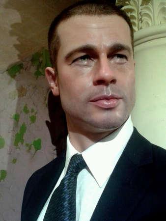 brad pitt: Brad Pitt at wax museum