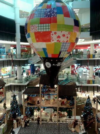 Christmas decorations in shopping mall