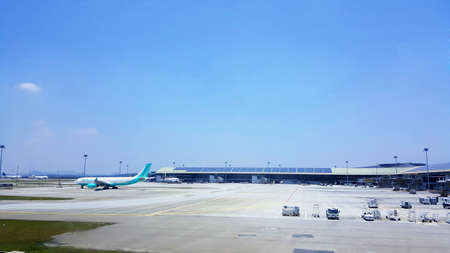 nas: Flynas airplane in KLIA airport. Editorial
