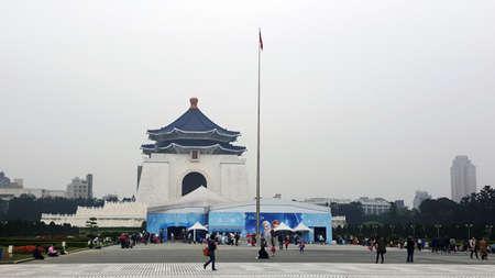 TAIPEI, TAIWAN - March 31: Chiang Kai-shek Memorial Hall March 31, 2016 in Taipei, TAIWAN. The building is famous landmark in Taipei.