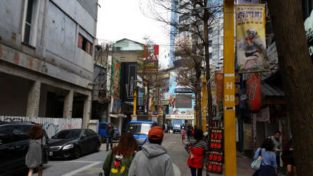 TAIPEI CITY, TAIWAN - March 31, 2016: Ximending in the Wanhua District of Taipei, Taiwan.