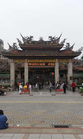 TAIPEI CITY, TAIWAN - March 31, 2016: Longshan Temple in Wanhua District, Taipei, Taiwan