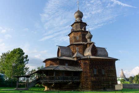 Transfiguration wooden church in Suzdal