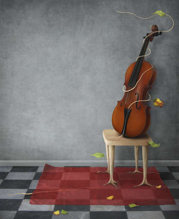 life stages: Violin. Violin for music posters Stock Photo
