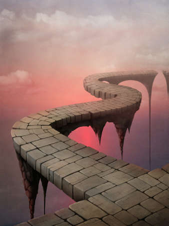 cliff: Bridges, road fantasy