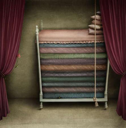 王女のためのベッド 写真素材
