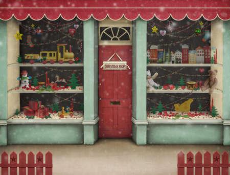 toy shop: Natale negozio.
