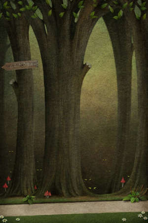 Background or illustration to a fairy story. illustration